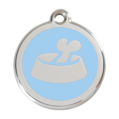Collier, laisse et harnais - Médaille personnalisable motif Gamelle Os pour chiens