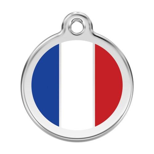 Collier, laisse et harnais - Médaille personnalisable France pour chiens