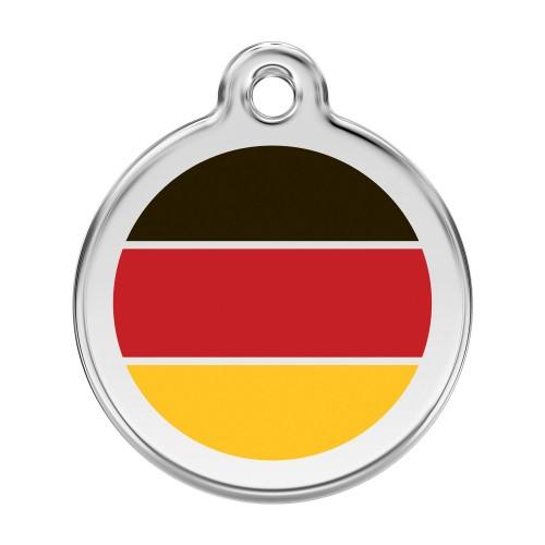 Collier, laisse et harnais - Médaille personnalisable Allemagne pour chats