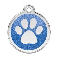 Médaille à personnaliser - Médaille personnalisable Paillette motif patte de chien Red Dingo