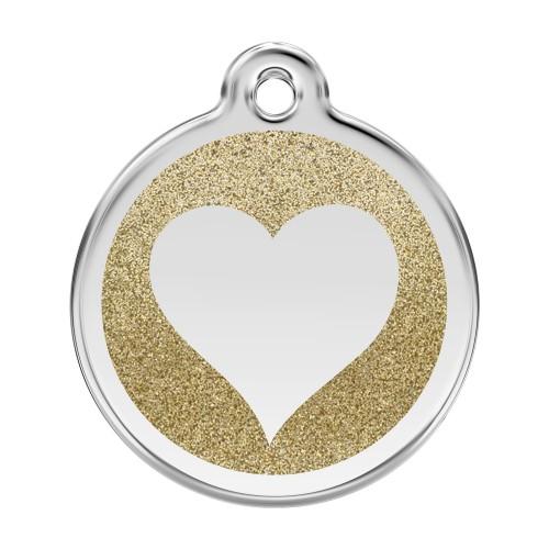 Collier, laisse et harnais - Médaille personnalisable Paillette motif coeur pour chats