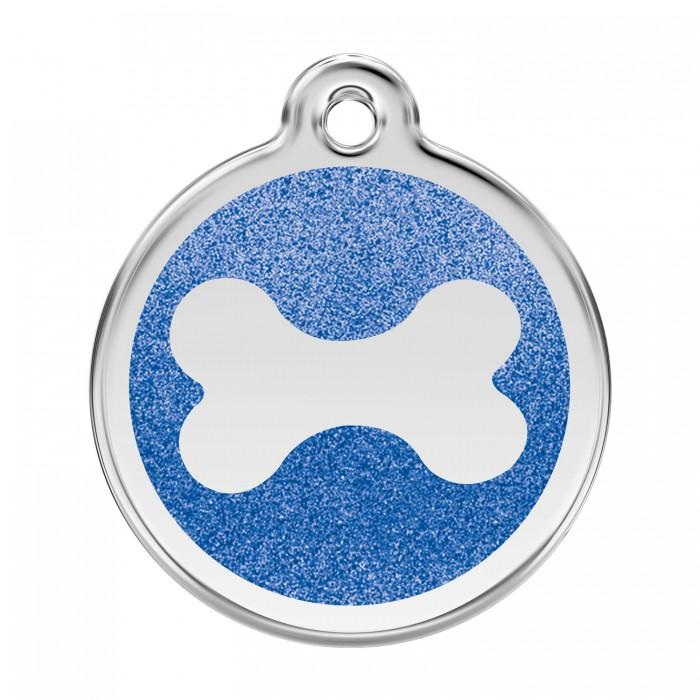Médaille personnalisable Paillette motif os