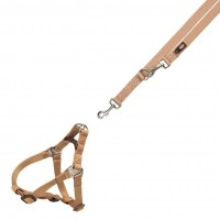 Harnais et laisse pour chien - Harnais One Touch - XS/S & Laisse réglable Premium Trixie