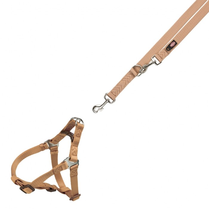 Collier, laisse et harnais - Harnais One Touch - XS/S & Laisse réglable Premium pour chiens