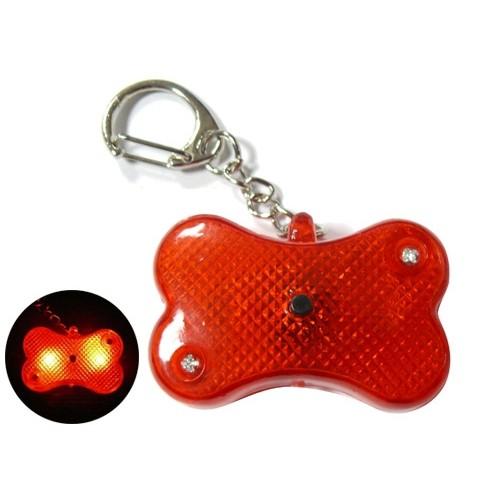 Collier, laisse et harnais - Pendentif lumineux Os Flasher pour chiens