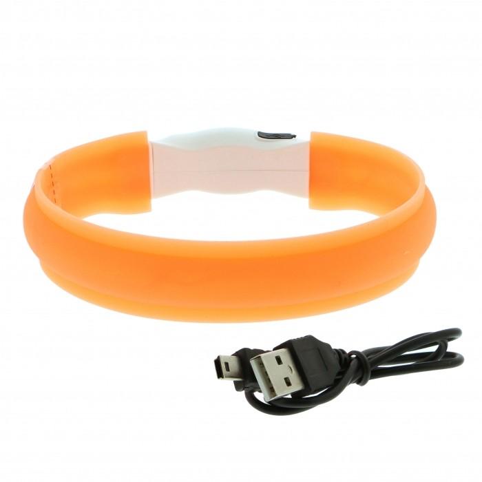 Collier, laisse et harnais - Collier lumineux USB pour chiens
