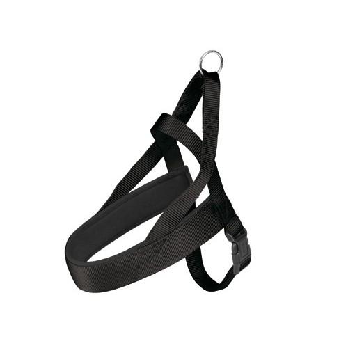 Collier, laisse et harnais - Harnais norvégien néoprène noir pour chiens