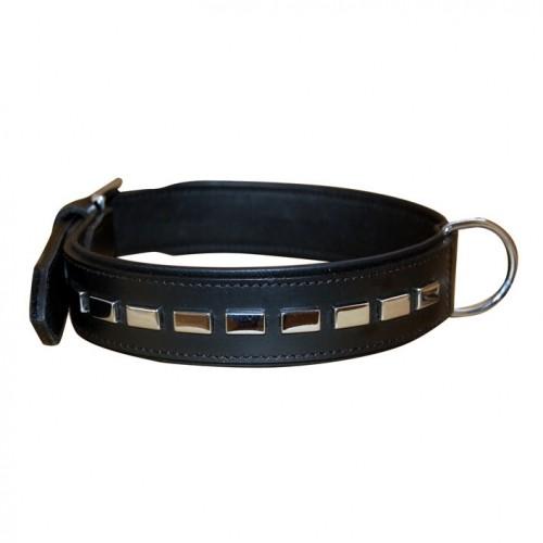 Collier, laisse et harnais - Collier en cuir Rectangles pour chiens