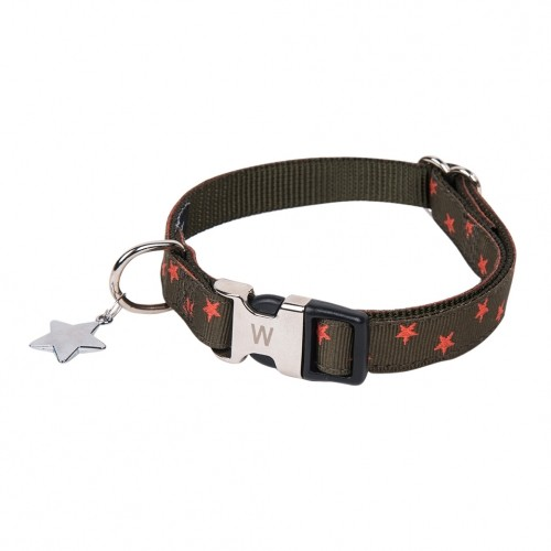 Collier pour chien - Collier Star Kaki Wouapy