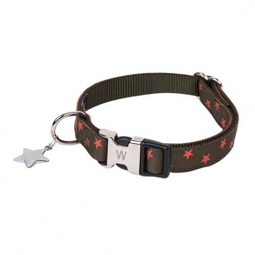 Collier, laisse et harnais - Collier Star Kaki pour chiens