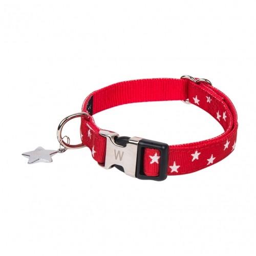 Collier, laisse et harnais - Collier Star Rouge pour chiens