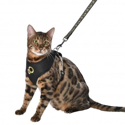 Collier, laisse et harnais - Parure Chamane pour chats