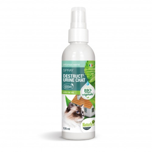 Comportement éducation - Spray Bio Destruct'urine Chat pour chats