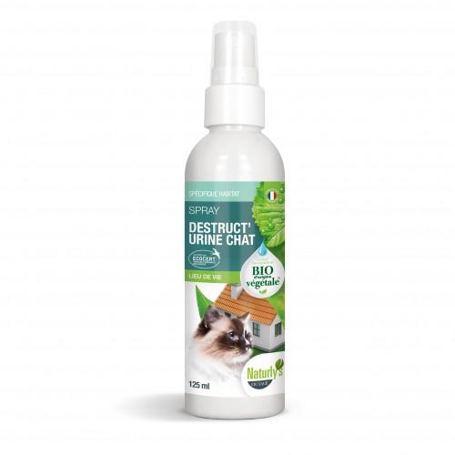 Comportement éducation - Spray Bio Destruct'urine Chat pour chats