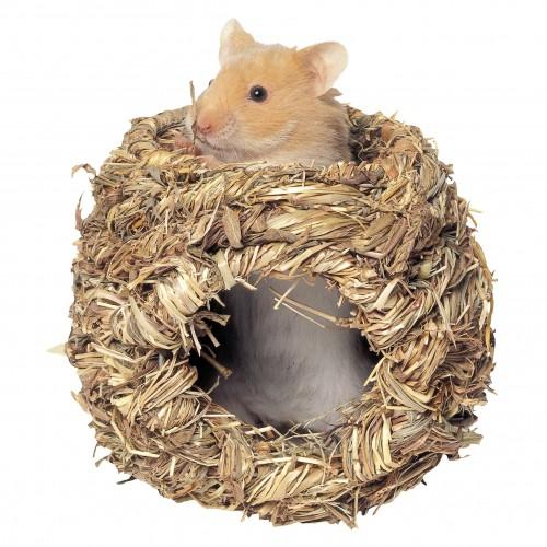 Couchage et habitat rongeur - Cachette en herbe pour rongeurs