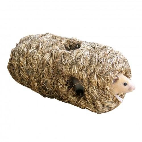 Couchage et habitat rongeur - Cylindre en herbe pour rongeurs