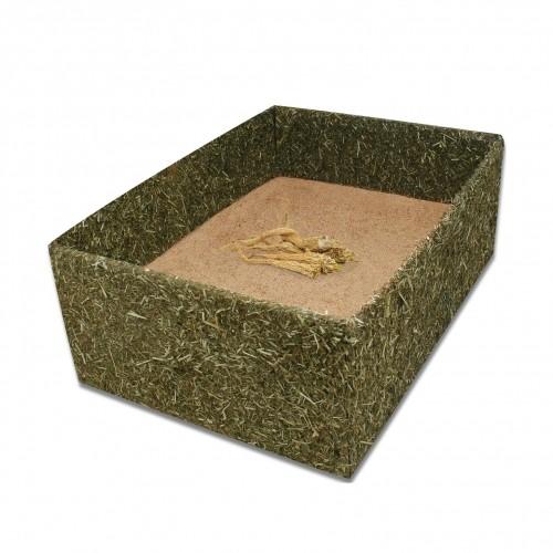 Couchage et habitat rongeur - Box de foin avec terre à bain pour rongeurs