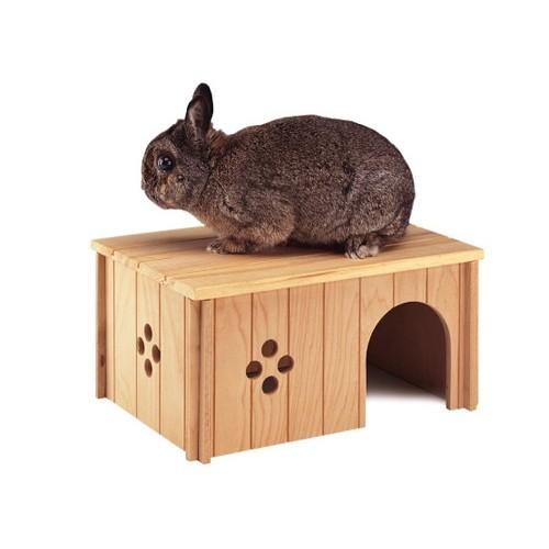 maison en bois d me et maison pour gros rongeur ferplast wanimo. Black Bedroom Furniture Sets. Home Design Ideas