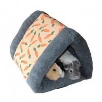 Dôme et maison pour rongeur - Dôme triangulaire carotte Rosewood