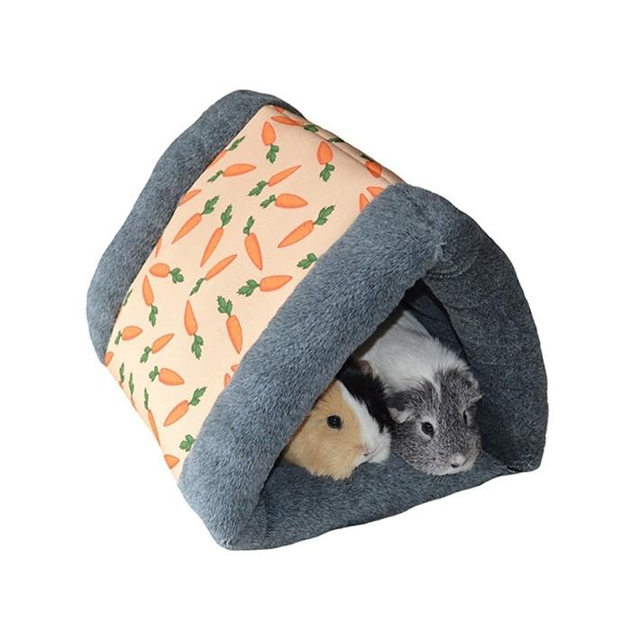 Couchage pour furet - Dôme triangulaire carotte pour furets