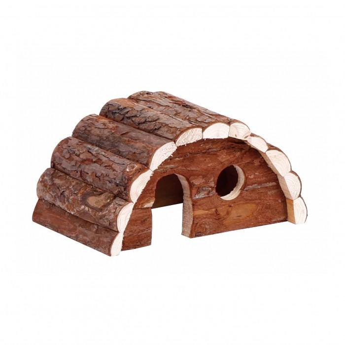 Couchage et habitat rongeur - Maison en bois semi-circulaire pour rongeurs