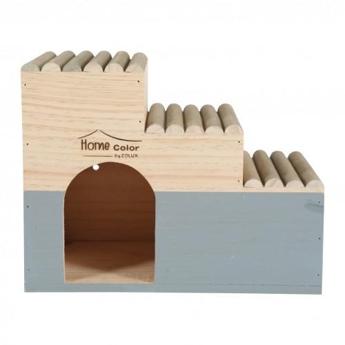 Couchage et habitat rongeur - Maison Escalier Home Color pour rongeurs