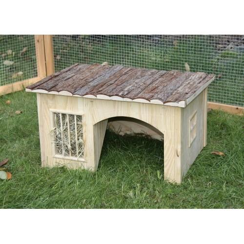 Couchage et habitat rongeur - Maison avec râtelier Nature pour rongeurs