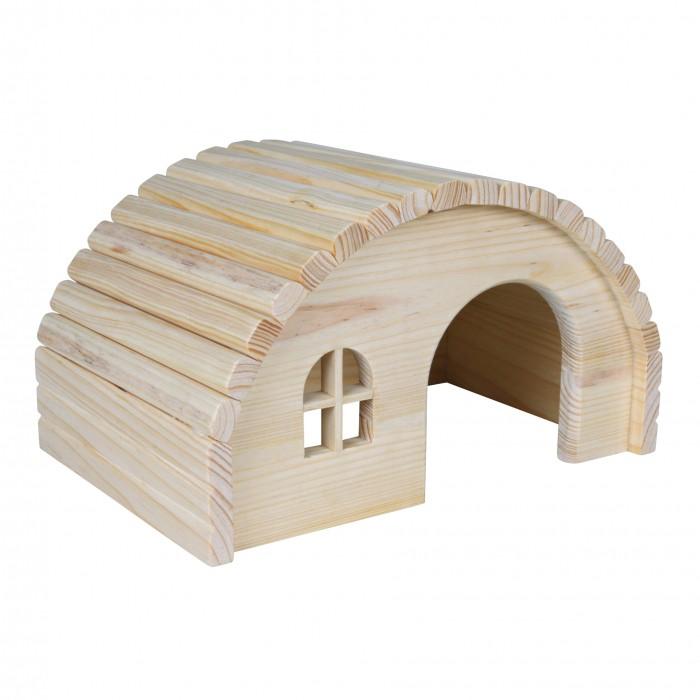 Couchage et habitat rongeur - Maison Hobbit en bois pour rongeurs