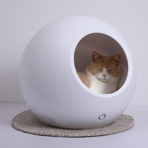 Couchage pour chat - Maison connectée à température réglable  pour chats