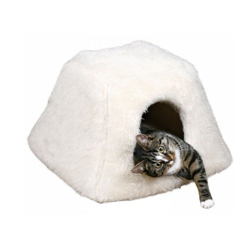 igloo en fourrure maison pour chat trixie wanimo. Black Bedroom Furniture Sets. Home Design Ideas