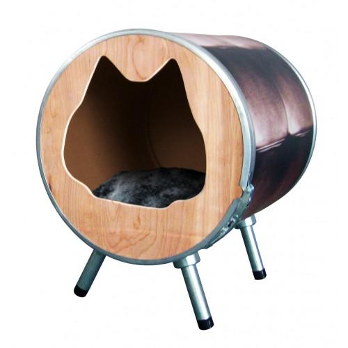 lit trendy tub maison pour chat martin sellier wanimo. Black Bedroom Furniture Sets. Home Design Ideas