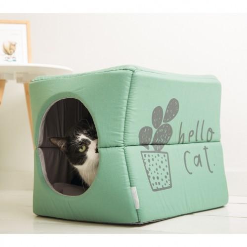 Couchage pour chat - Maison 2 en 1 Kumba pour chats