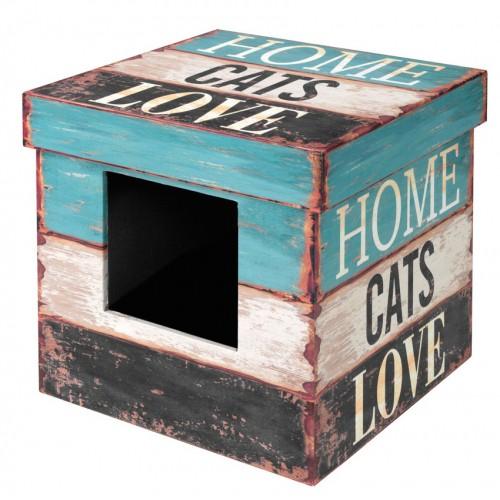 Couchage pour chat - Maison Box Love pour chats