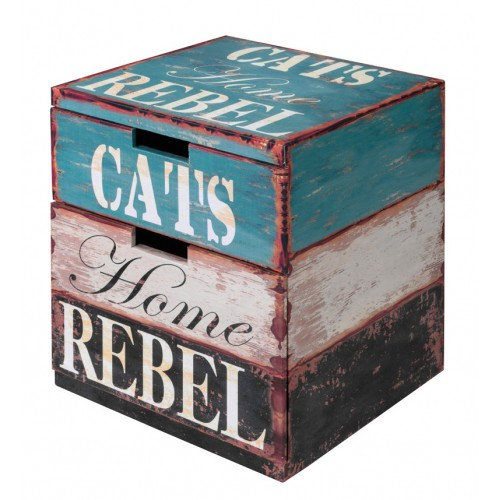 Couchage pour chat - Maison Box Rebel pour chats