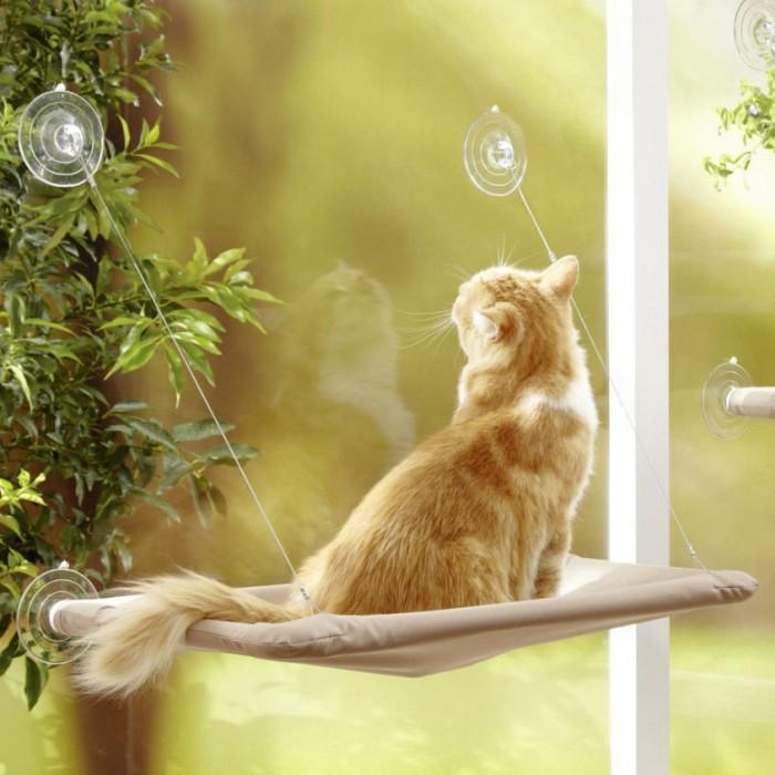Couchage pour chat - Hamac de fenêtre pour chats