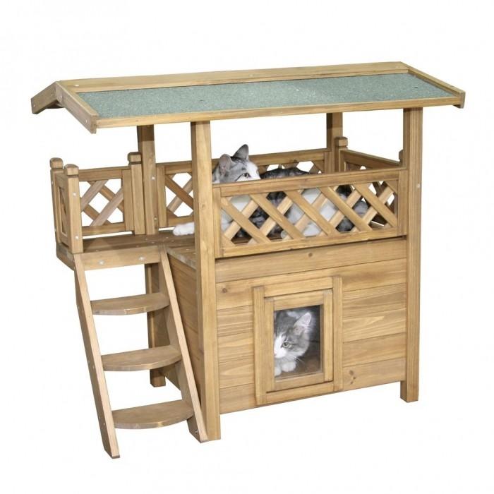Couchage pour chat - Maisonnette Lodge pour chats