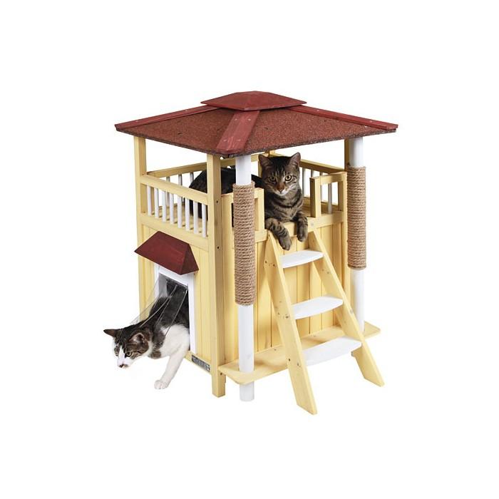 maison toskana niche maison pour chat kerbl wanimo. Black Bedroom Furniture Sets. Home Design Ideas