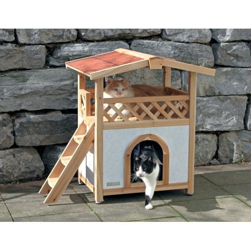 Couchage pour chat - Maisonnette Tyrol Alpin pour chats