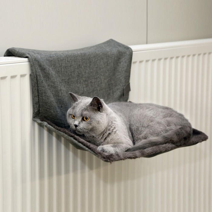 hamac paradies hamac lit de radiateur pour chat kerbl. Black Bedroom Furniture Sets. Home Design Ideas