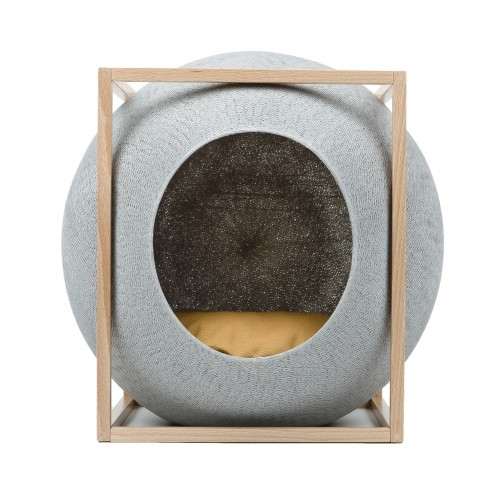 Cube cocon edition bois maison pour chat meyou wanimo - Maison pour chat en bois ...