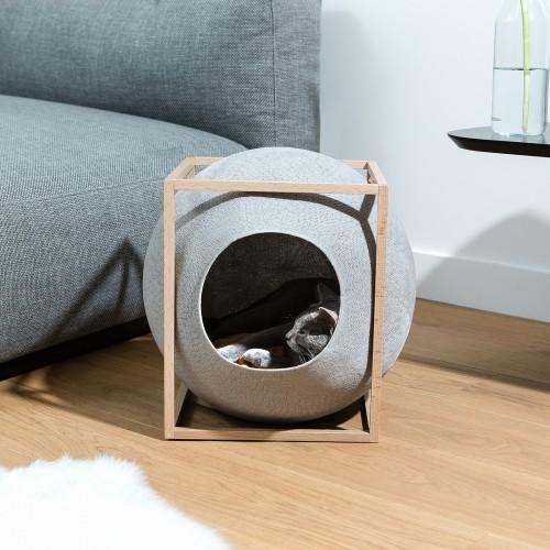 Couchage pour chat - Cube Cocon - Edition Bois pour chats