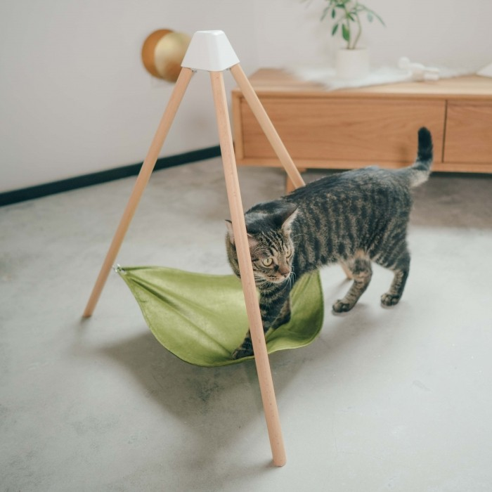 Couchage pour chat - Hamac triangulaire pour chats