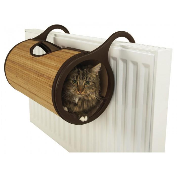 Couchage pour chat - Lit de radiateur Bamboo pour chats