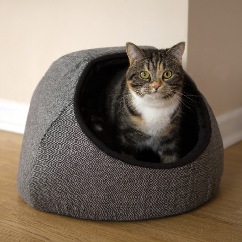 Couchage pour chat - Igloo Tweed pour chats