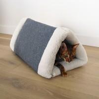 Maison et tapis pour chat - Abri douillet Cosy 2 en 1 Rosewood
