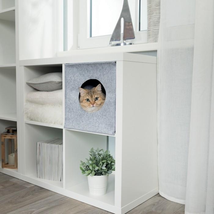 Couchage pour chat - Abri douillet pour étagères Anton pour chats