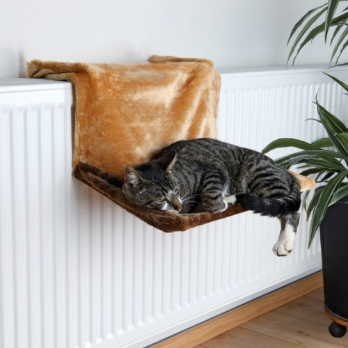 hamac de luxe hamac lit de radiateur pour chat trixie wanimo. Black Bedroom Furniture Sets. Home Design Ideas