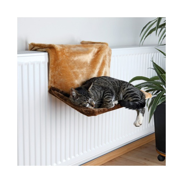 hamac de luxe trixie hamac lit de radiateur pour chat. Black Bedroom Furniture Sets. Home Design Ideas
