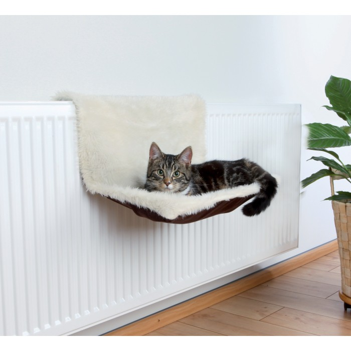 hamac bicolore trixie hamac lit de radiateur pour chat. Black Bedroom Furniture Sets. Home Design Ideas
