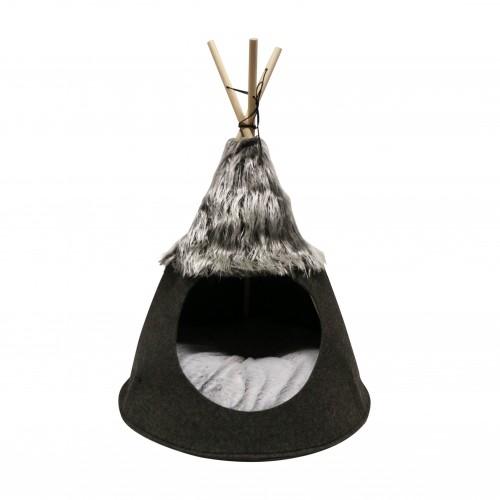 Couchage pour chat - Tipi feutrine Nuuk pour chats